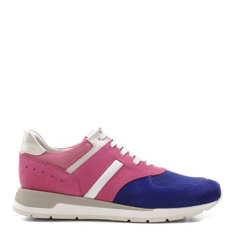 Geox Women's Pink And Purple Suede Contrast Shahira Sneakers