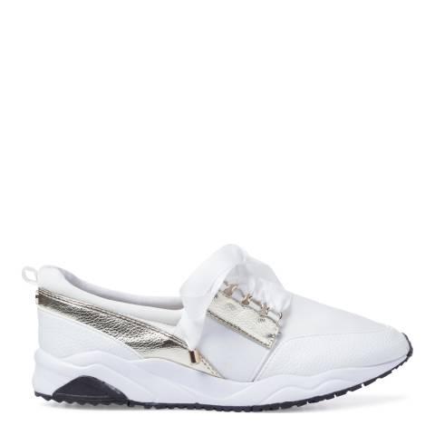 Carvela White Metallic Colourblock Jackpot Sneakers