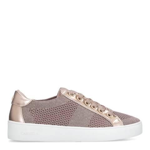 Carvela Nude/Rose Gold Metallic Jealousy Sneakers