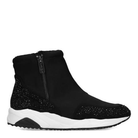 Carvela Black Embellished Josie Hi Top Sneakers