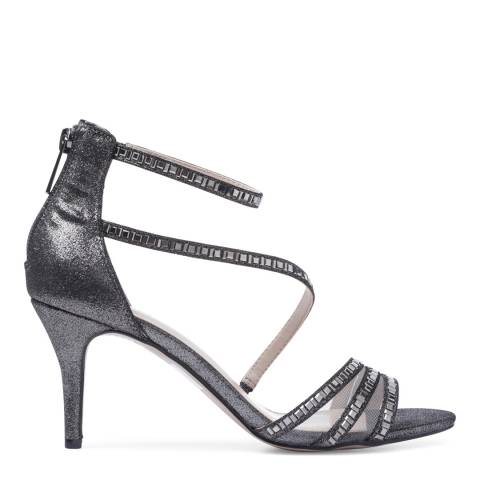 Carvela Pewter Beaded Liquor Heeled Sandals