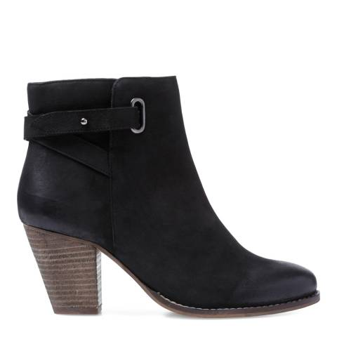 Carvela Black Leather Smart Ankle Boots