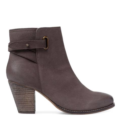Carvela Taupe Leather Smart Ankle Boots