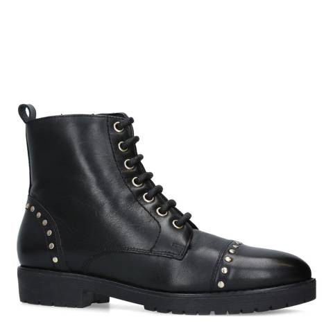 Carvela Black Leather Steady Ankle Boots