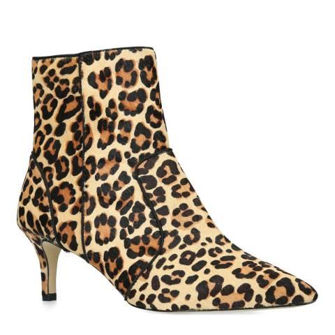 Carvela Tan Leopard Sugar Ankle Boots