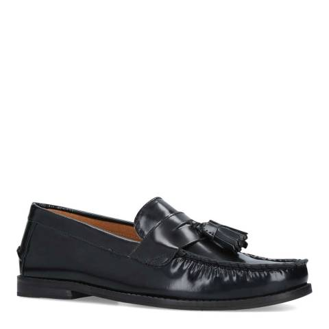 KG Kurt Geiger Black Leather Naughton Loafer Shoes