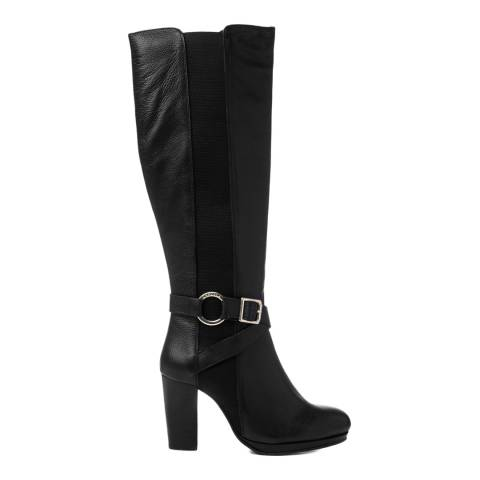 Carvela Black Leather Total Calf Boots