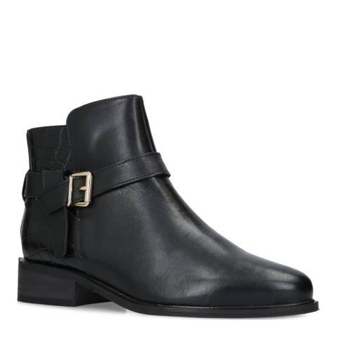 Carvela Black Leather Twist Ankle Boots