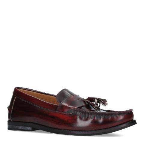 KG Kurt Geiger Wine Leather Naughton Loafer Shoes