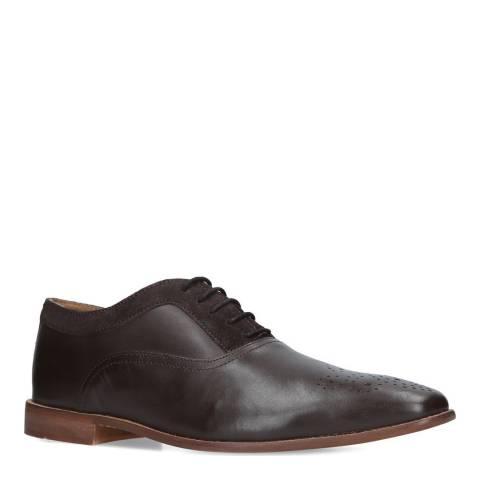 KG Kurt Geiger Brown Leather Noah Oxford Shoes