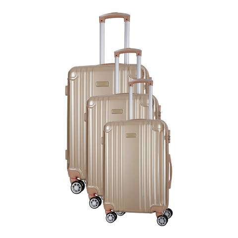 Travel One Beige Comilla Set Of Three 8 Wheeled Suitcases 46/56/66 cm
