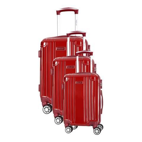 Travel One Bordeaux Comilla Set Of Three 8 Wheeled Suitcases 46/56/66 cm