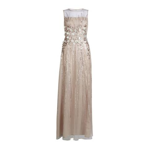 Hobbs London Champagne Embellished Beatrice Maxi Dress