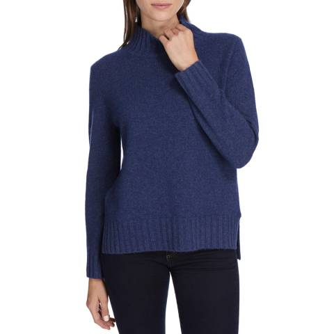 Princess of Scotland Navy Cashmere Funnel Neck Jumper