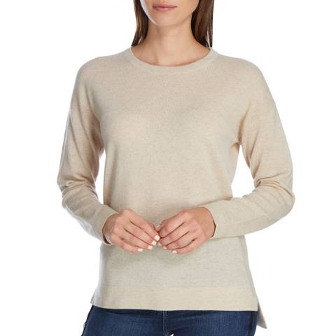 Princess of Scotland Cream Cashmere Step Back Hem Jumper