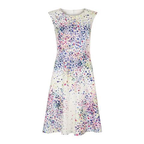 Hobbs London Ivory/Multi Flared Nova Dress