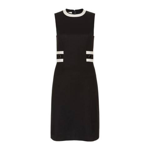 Hobbs London Black/Ivory Tailored Jacquie Dress