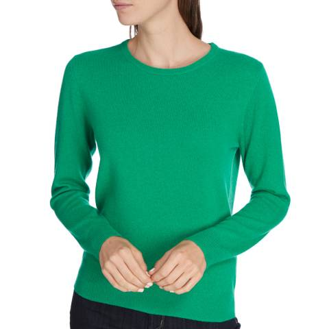 Princess of Scotland Green Cashmere Crew Neck jumper