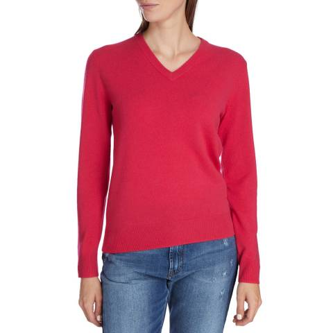 Princess of Scotland Pink Cashmere V Neck Jumper