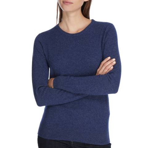Princess of Scotland Navy Cashmere Crew Neck Jumper