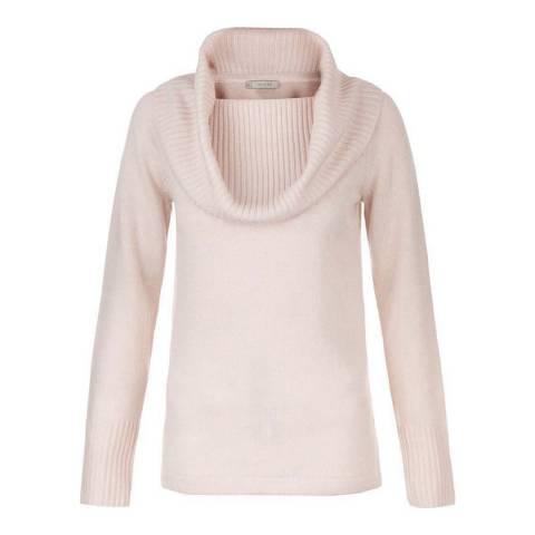 Hobbs London Soft Pink Daisy Wool Cashmere Jumper
