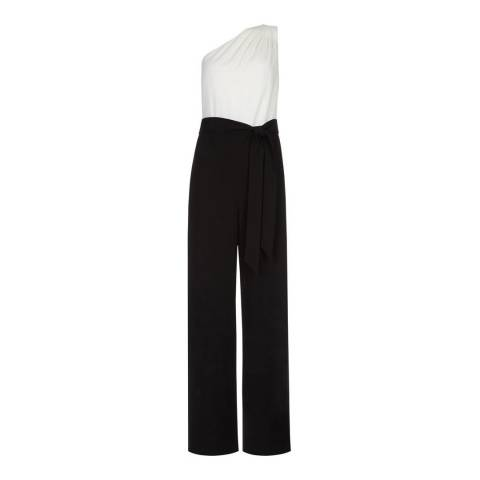 Hobbs London Ivory/Black Paulina Jumpsuit