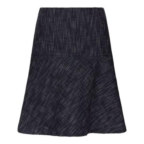 Hobbs London Navy/Ivory Flared Natalie Skirt