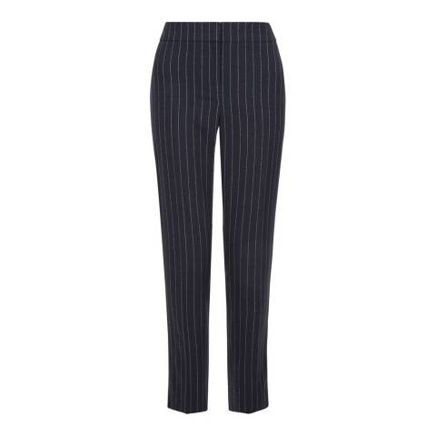 Hobbs London Navy/Ivory Melissa Trousers
