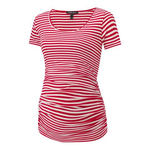 Isabella Oliver Red & White Stripe Jenna Maternity Everyday Tee