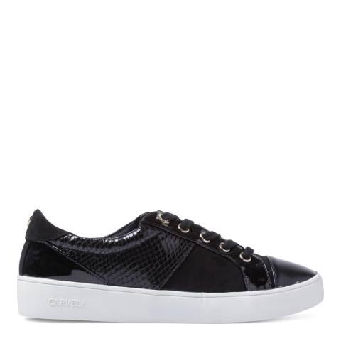 Carvela Black Patent Reptile Jagger Sneakers
