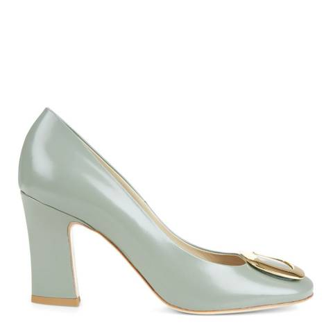 Hobbs London Sage Green Leather Ada Court Shoes
