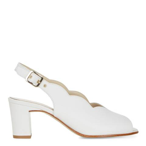 Hobbs London White Leather Alanna Slingback Sandals