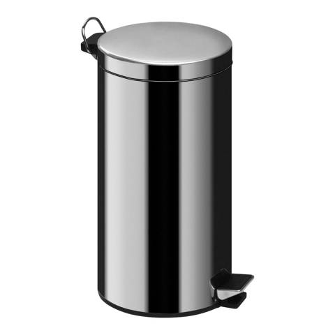 Premier Housewares 12L Pedal Bin with Inner Plastic Bucket, Mirror Polished Stainless Steel