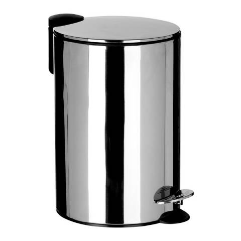 Premier Housewares 12L Pedal Bin with Soft Close Lid, Stainless Steel
