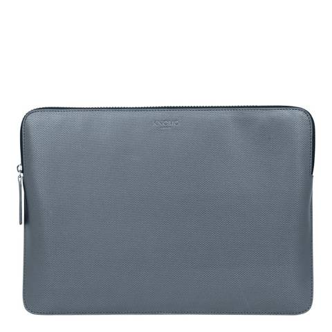 "Knomo Silver Embossed 12"" Laptop Sleeve"