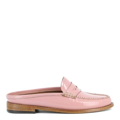 GH Bass Women's Patent Pink Leather Weejun Penny Slide