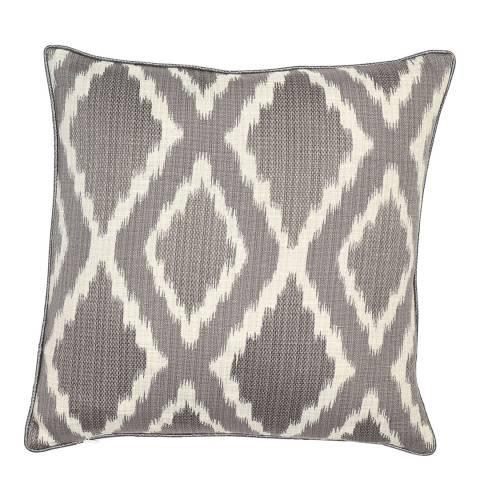 Malini Charcoal Woven Ikat Cushion 43x43cm
