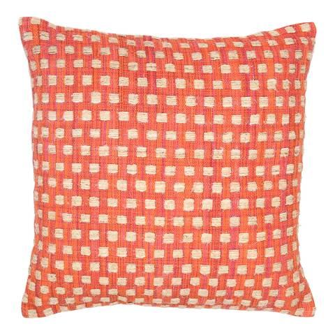 Malini Orange Squares Cushion 45x45cm