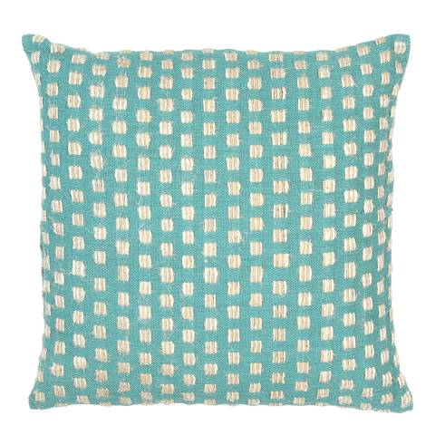 Malini Teal Squares Cushion 45x45cm