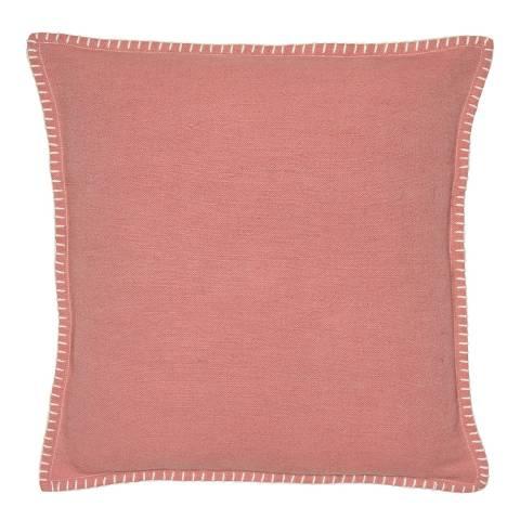 Malini Pink Blanket Stitch Cushion 45x45cm
