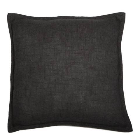 Malini Black Cotton Cushion With Flange 45x45cm