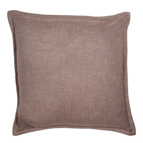 Malini Dark Taupe Cotton Cushion With Flange 45x45cm