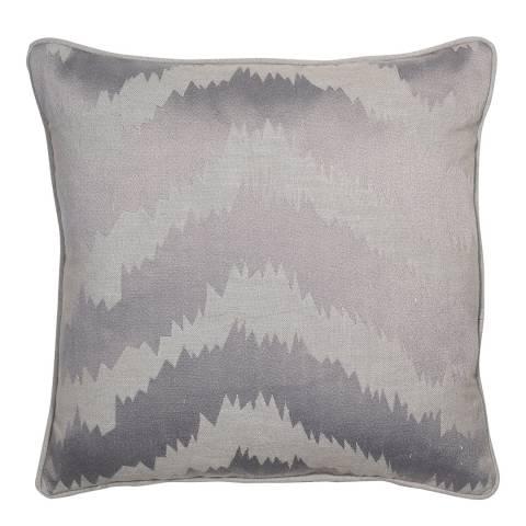 Malini Lilac Embroidered Zig Zag Cushion 45x45cm