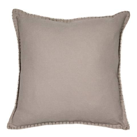 Malini Natural Reversible Blanket Stitch Cushion 43x43cm
