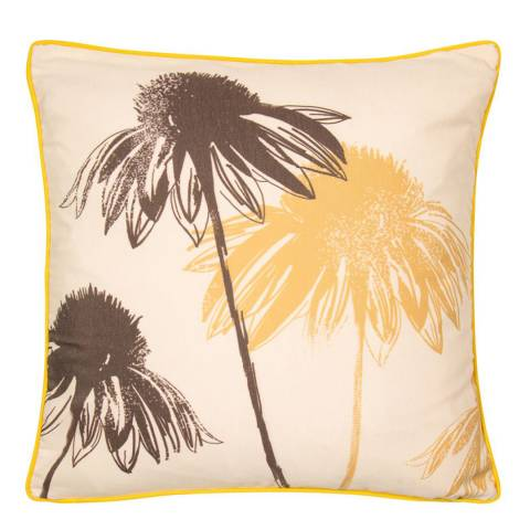 Malini Mustard Sunflower Piped Cushion 45x45cm
