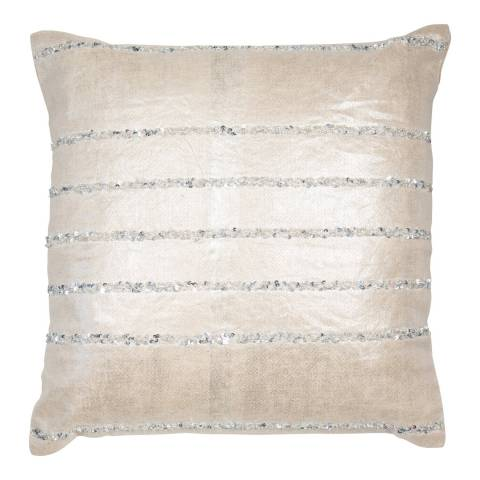 Malini Grey Sparkle and Cluster Linen Cushion 45x45cm
