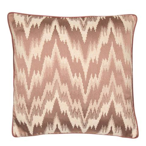 Malini Putty Jacquard Chevron Cushion 50x50cm