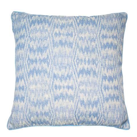 Malini Blue Jacquard Haze Cushion 50x50cm