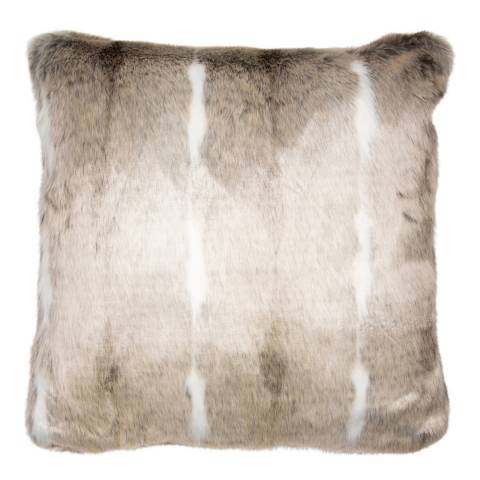 Malini Natural/White Faux Fur Cushion 50x50cm