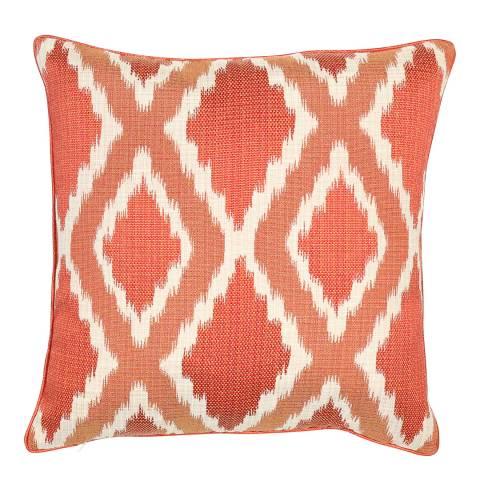 Malini Rust Woven Ikat Cushion 50x50cm
